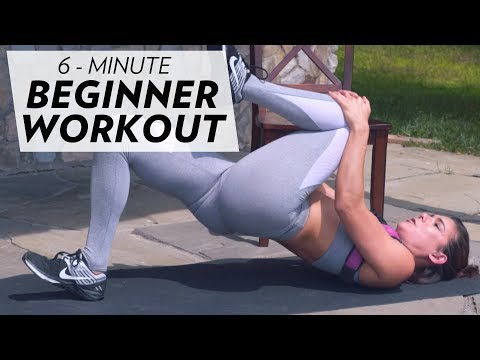 THIS 6 MINUTE AT-HOME BEGINNER WORKOUT WILL CHANGE YOUR LIFE!