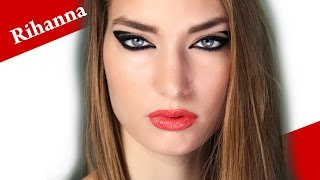 RIHANNA Viva Glam NEW YEARS Makeup Look Tutorial for White Skin Girls Thumbnail