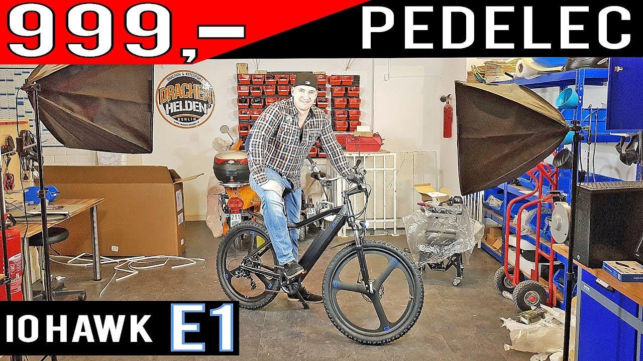 pedelec ebike f r 999 euro io hawk e1 2018 mountainbike. Black Bedroom Furniture Sets. Home Design Ideas