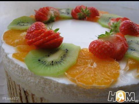 Торт с апельсиново сливочным суфле  Пошаговый рецепт с фото