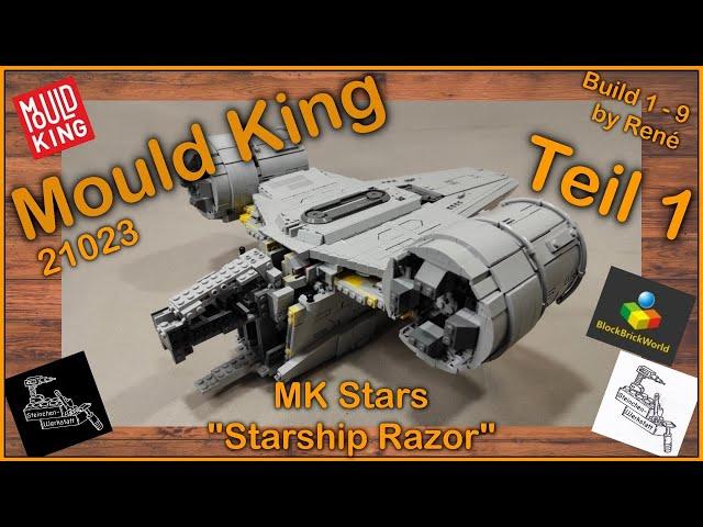 Über 5000 Teile Bauspass bei der Razor Starship von Mould King 21023   Teil 1   Blockbrickworld