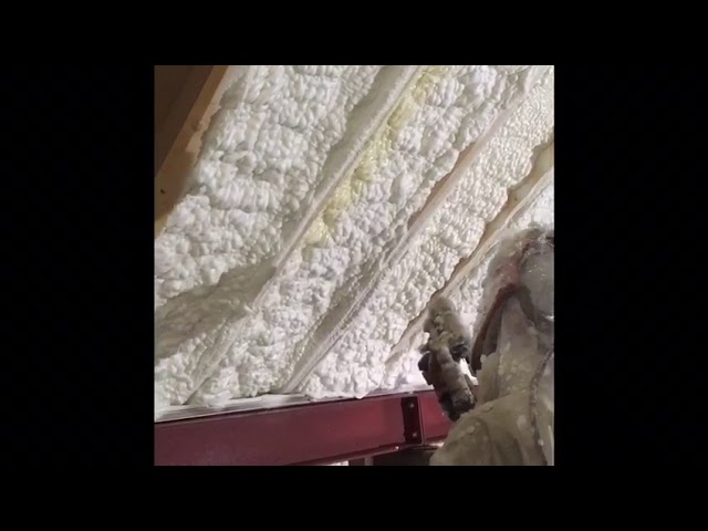 Open Cell Foam Installation