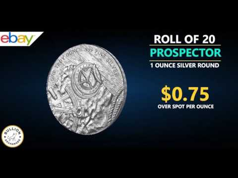 1 oz Prospector Silver Round .999 Fine