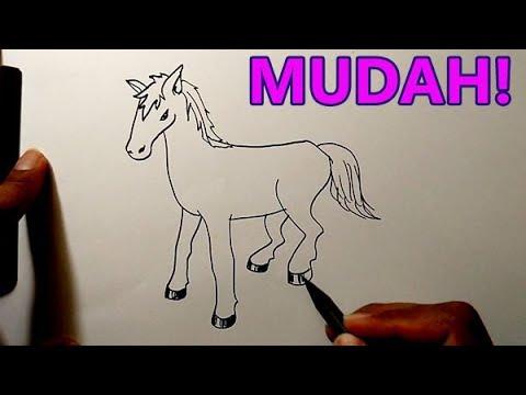 Cara menggambar hewan berkaki 4 yang mudah untuk ditiru | KUDA ...