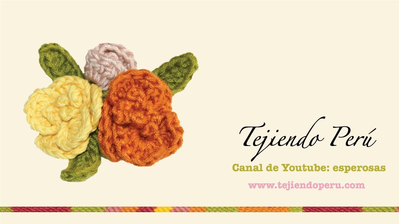 Flores tejidas en crochet (bouquet) - YouTube