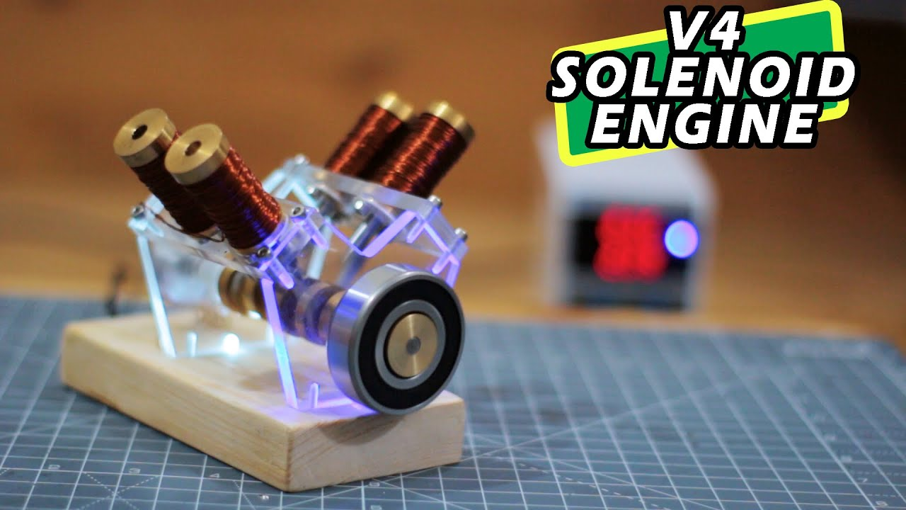 How to make Solenoid Engine | V4 Solenoid Engine