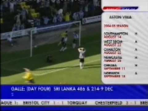 Notts County 1-1 Chester City (2004)