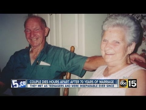 Couple dies hours apart after 70 years of marriage
