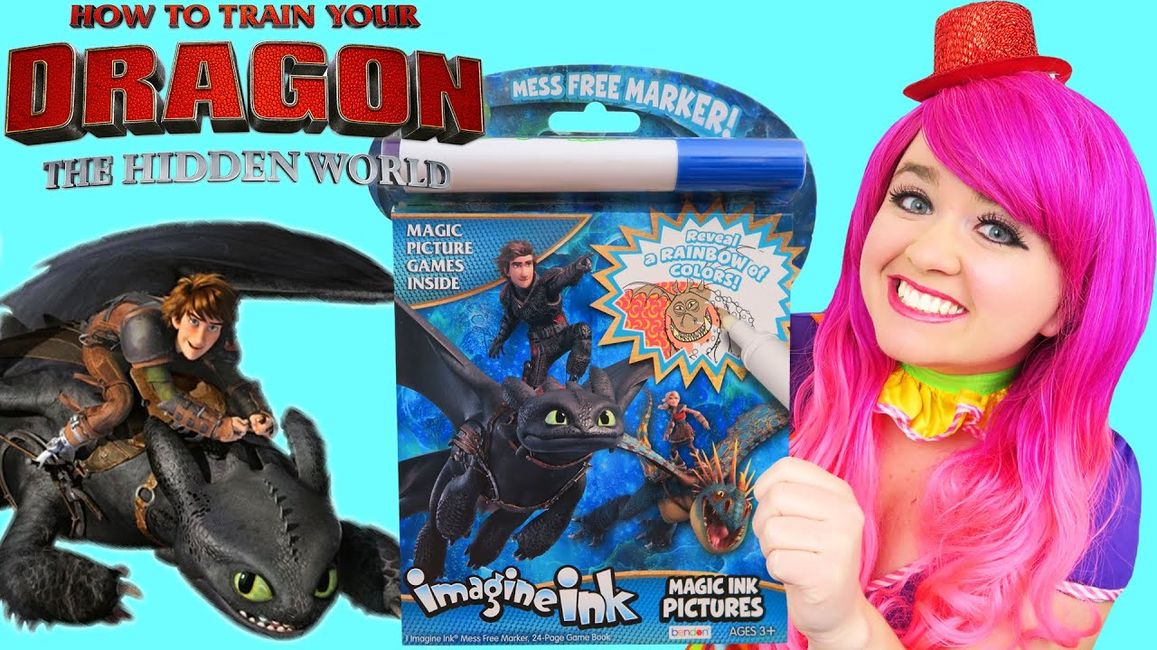 Coloring How To Train Your Dragon Magic Ink Coloring Book | Imagine Ink Marker
