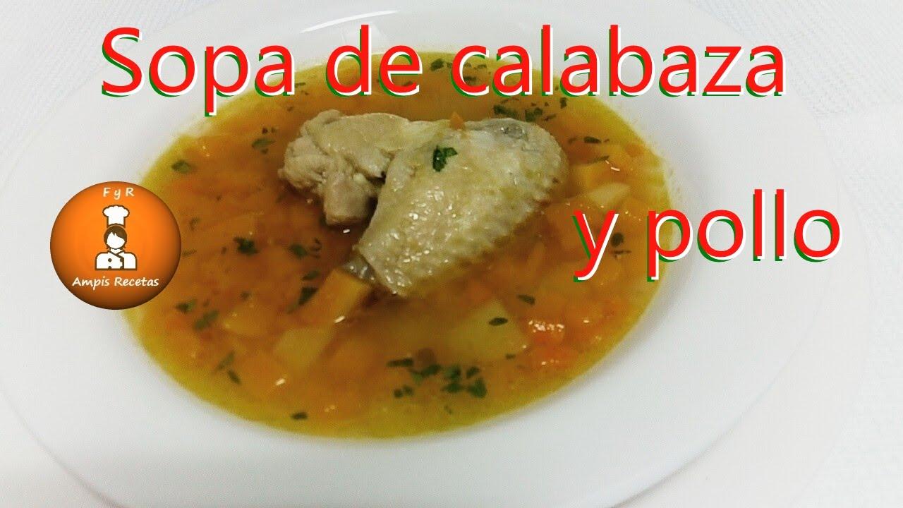 sopa de auyama para descabalgar de peso