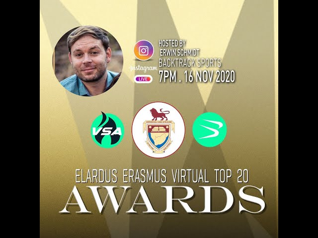 Elardus Erasmus TOP 20 Award Ceremony