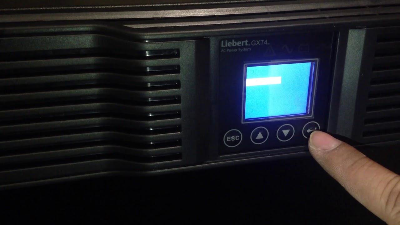 Vertiv Liebert GXT4 3000RT230 UPS Start UP Turn Off and On Screen