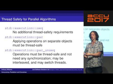 Concurrency, Parallelism and Coroutines - Anthony Williams [ACCU 2017]