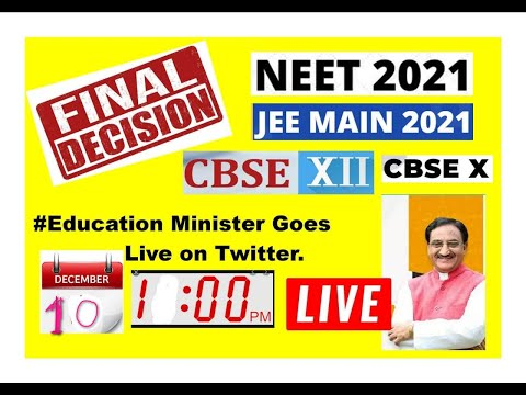 DEMAND TO EDUCATION MINISTER OF GOVT. OF INDIA FROM SOCIAL MEDIA  NEET JEE 2021 CBSE STUDENT