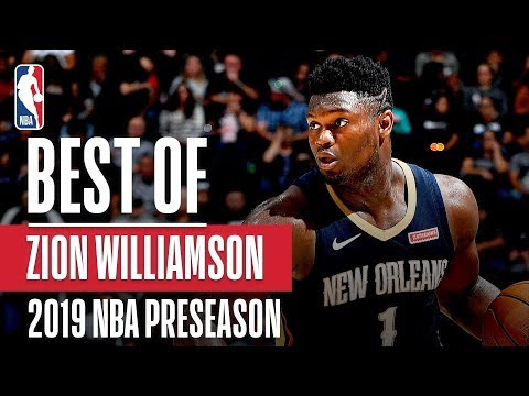With the return date set, here's is the best of Zion from Preseason!
