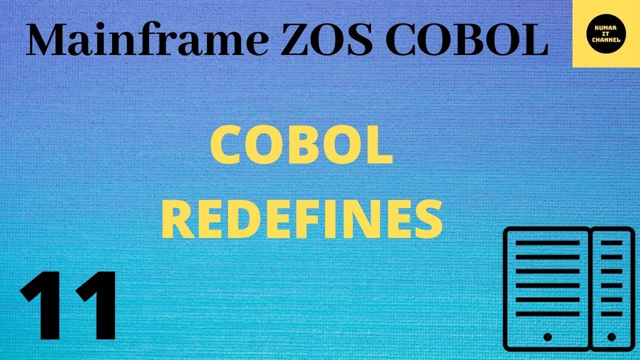 Cobol Tutorial Using Redefines 9