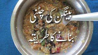 Baingan Ki Chutney Brinjal Chutney Recipe بینگن کی چٹنی  Eggplant Chutney Recipe In Urdu | Chutneys