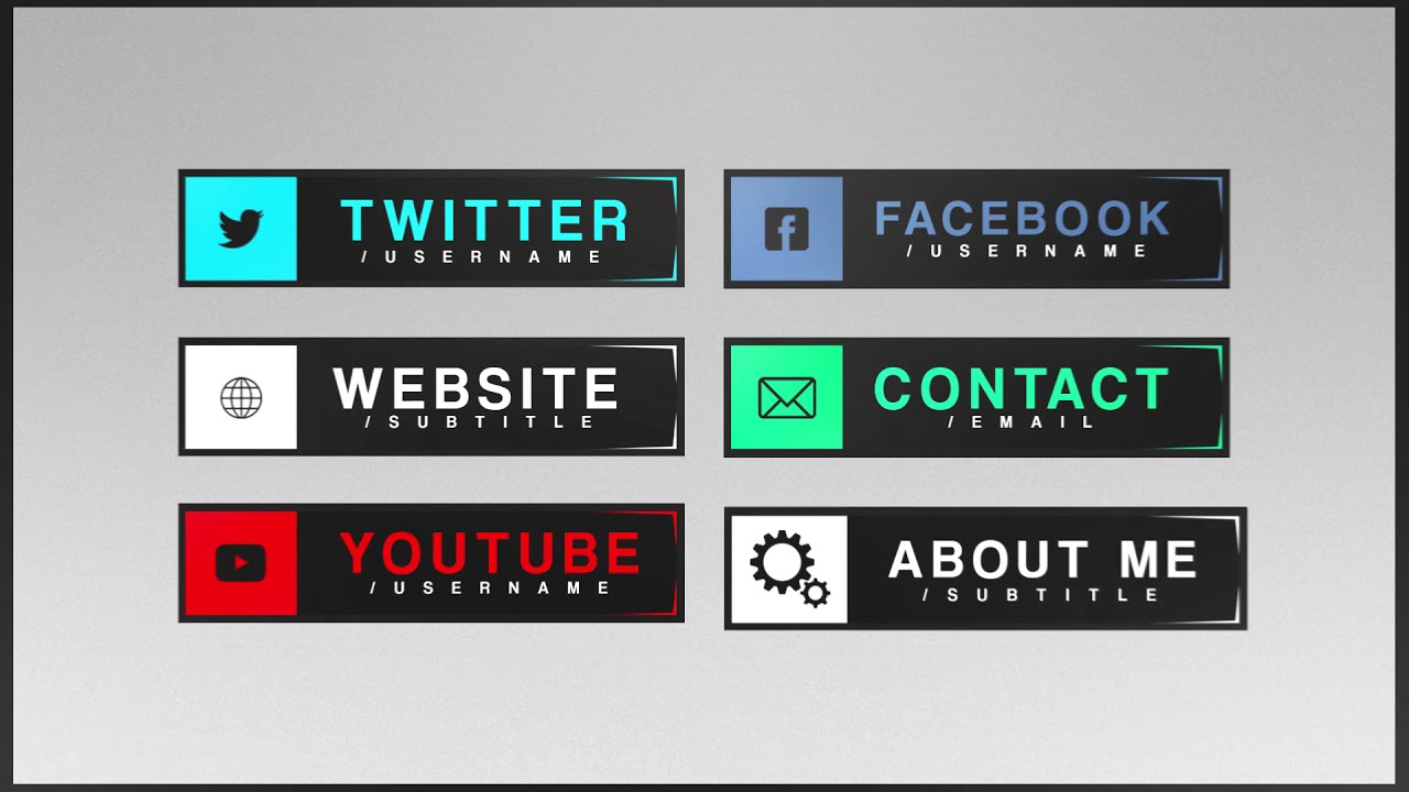 free twitch panels template