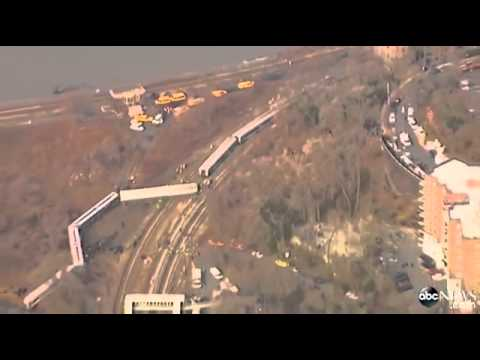 Metro-North Poughkeepsie to Grand Central Terminal Passenger Train Derails in Bronx New Yor