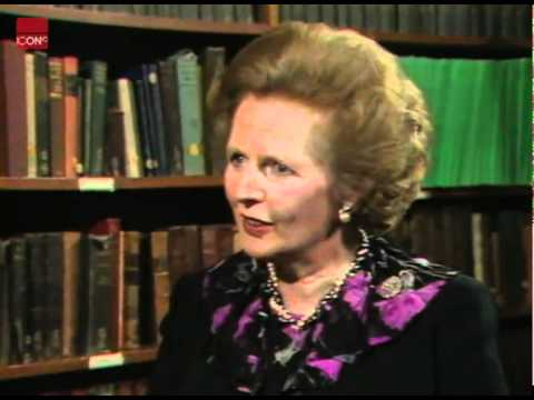 Margaret Thatcher speaking about the miners strike on its 258th day