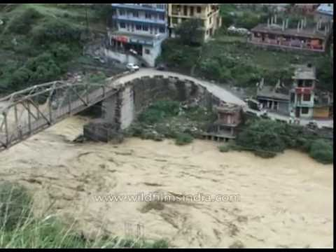 Floods in the Himalaya again : Rampur bridge gets swept away in Himachal Pradesh