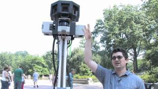 Google mapping Central Park by bike Free HD Video