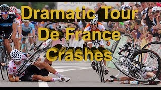 The Worst Tour de France Cycle Crashes Ever! - Updated 2017