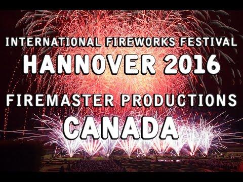 Int. Fireworks Festival Hannover 2016: Firemaster Productions - Canada - Feuerwerk - Feu d'artifice