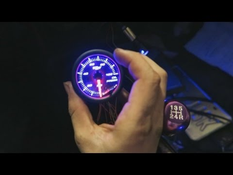 Glowshift Oil Pressure Gauge Wiring Diagram Intermediate Switch Install Youtube