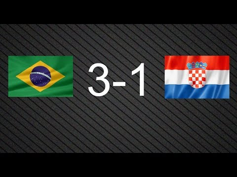 World Cup 2014- Group A: Brazil 3-1 Croatia All goals