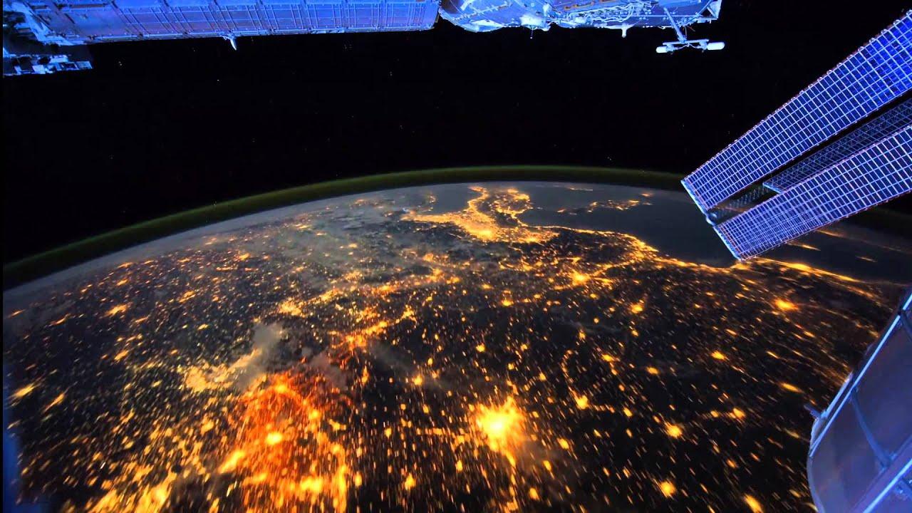 Красивое видео земли из космоса