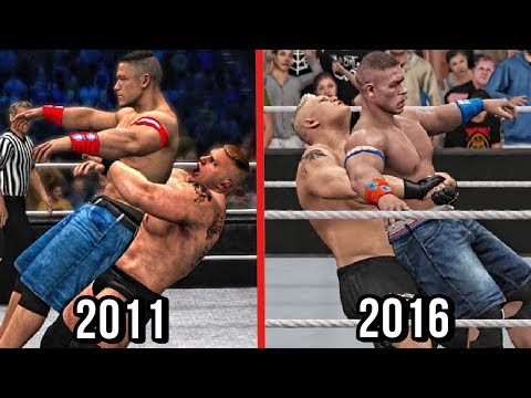 The Evolution Of German Suplexes Featuring Brock Lesnar! ( WWE 12 To WWE 2K17 )