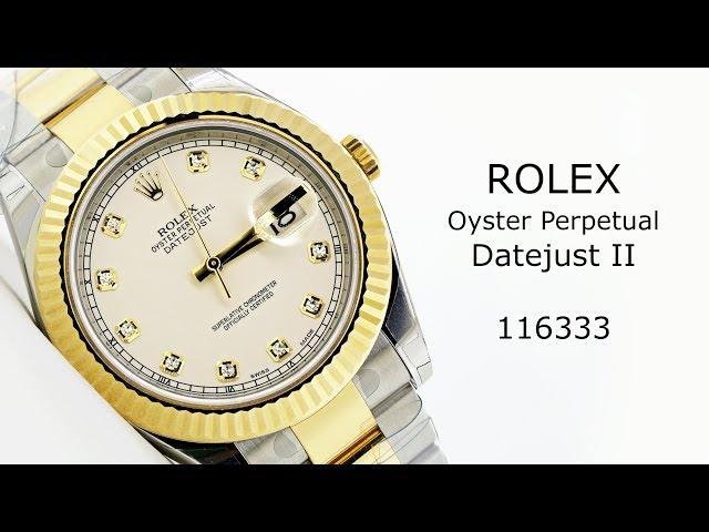 Rolex Oyster Perpetual Datejust II 116333 #BigWatchBuyers