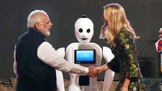 Indian Robot Mitra to Greet Narendra Modi And Ivanka Trump With A Namaste