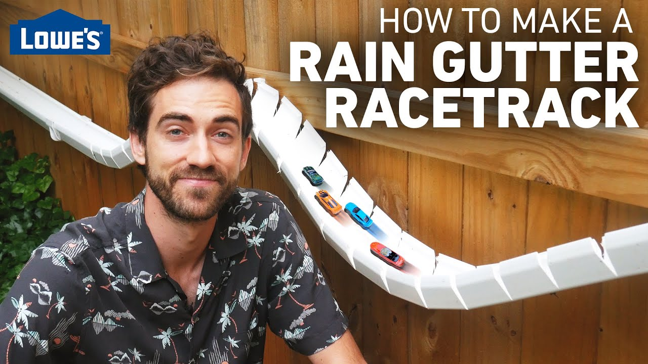 How to Make a Rain Gutter Racetrack