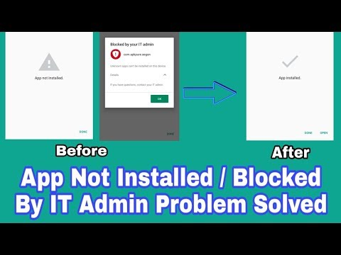 How To Fix Application Not Installed and Blocked By IT admin Problem || 100  % Solution ||