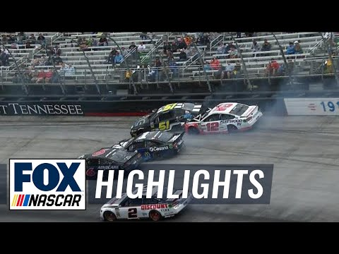 Ryan Blaney gets caught in big wreck after strong start | 2018 BRISTOL | FOX NASCAR