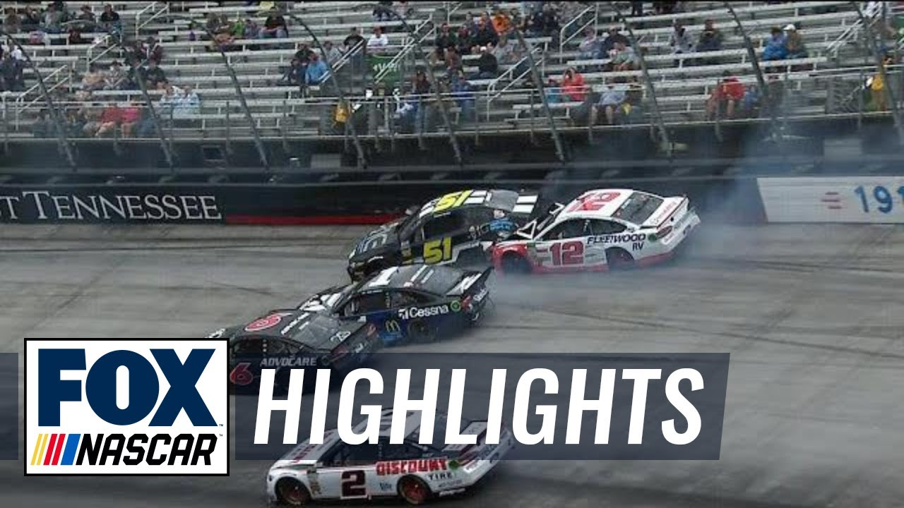 Ryan Blaney gets caught in big wreck after strong start | 2018 BRISTOL MOTOR SPEEDWAY