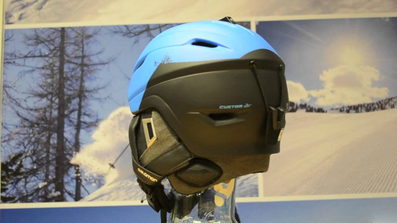 huge inventory 50% price get new 2015 Salomon Ranger Custom Air Ski Helmet - Blue Black Matt 360° View -  Sail and Ski