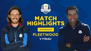 Fleetwood vs Finau | Ryder Cup Sunday Singles Highlights