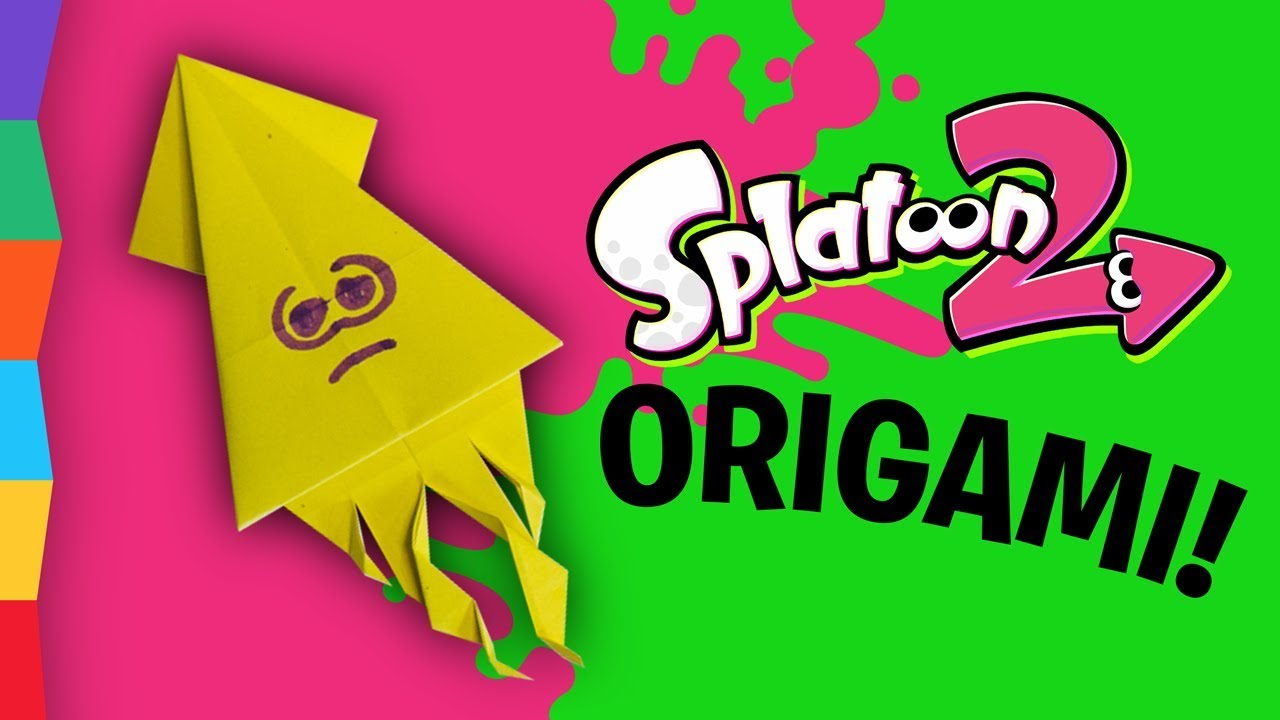 splatoon 2 origami squid learn how to fold an origami squid inspired by nintendo switch splatoon youtube splatoon 2 origami squid learn how to fold an origami squid inspired by nintendo switch splatoon