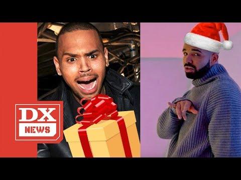 Chris Brown Shows Off Drake's OVO Gift