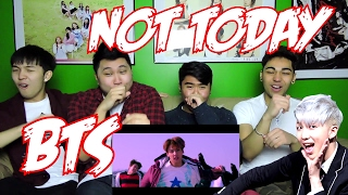 BTS - NOT TODAY MV REACTION (FUNNY FANBOYS)