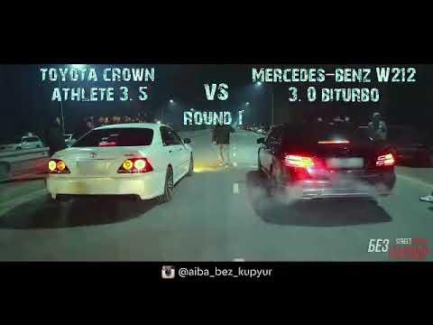 MB W212 3,0 BiTurbo Vs Toyota Crown ATHLETE GRS184