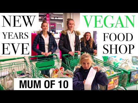 MOM OF 10 – VEGAN FOOD SHOPPING / NEW YEARS EVE