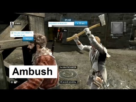 Ambush:  How to do Wolfpack Extra Objectives. Assassin's Creed 3 Multiplayer Wolfpack
