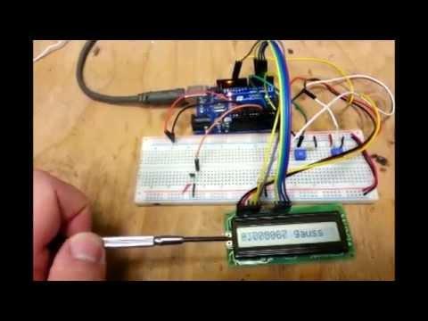 Hall Effect Sensor With Arduino A1302 Portable