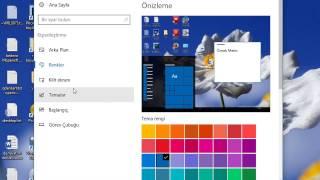 Masa üstünü kişiselleştirmek windows 10, windows 8