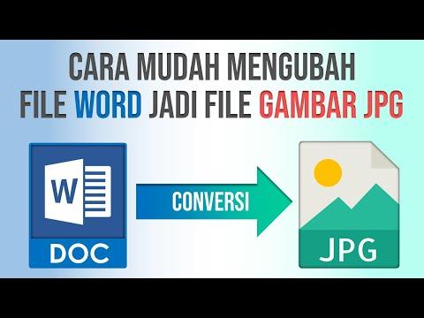 Cara Ubah File Word Jadi File Gambar JPG | Convert doc to JPG
