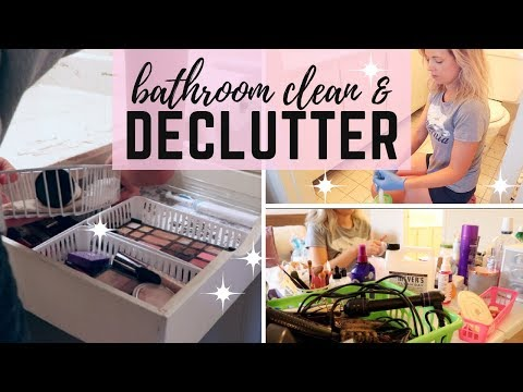 KONMARI METHOD BATHROOM DECLUTTER ORGANIZATION AND DEEP CLEAN | EM AT HOME
